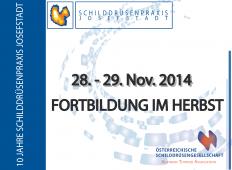 Ankündigung Herbstfortbildung 2014 der Österreichischen Schilddrüsengesellschaft
