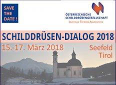Ankündigung Schilddrüsendialog 2018 Seefeld, Tirol